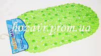 Коврик на присосках противоскользящий камни (прозрачный салатовый) K0012