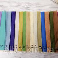 Легкий однотонный шифон на метраж разные цвета,высота 2.8м-3м, ширина наборная, фото 3