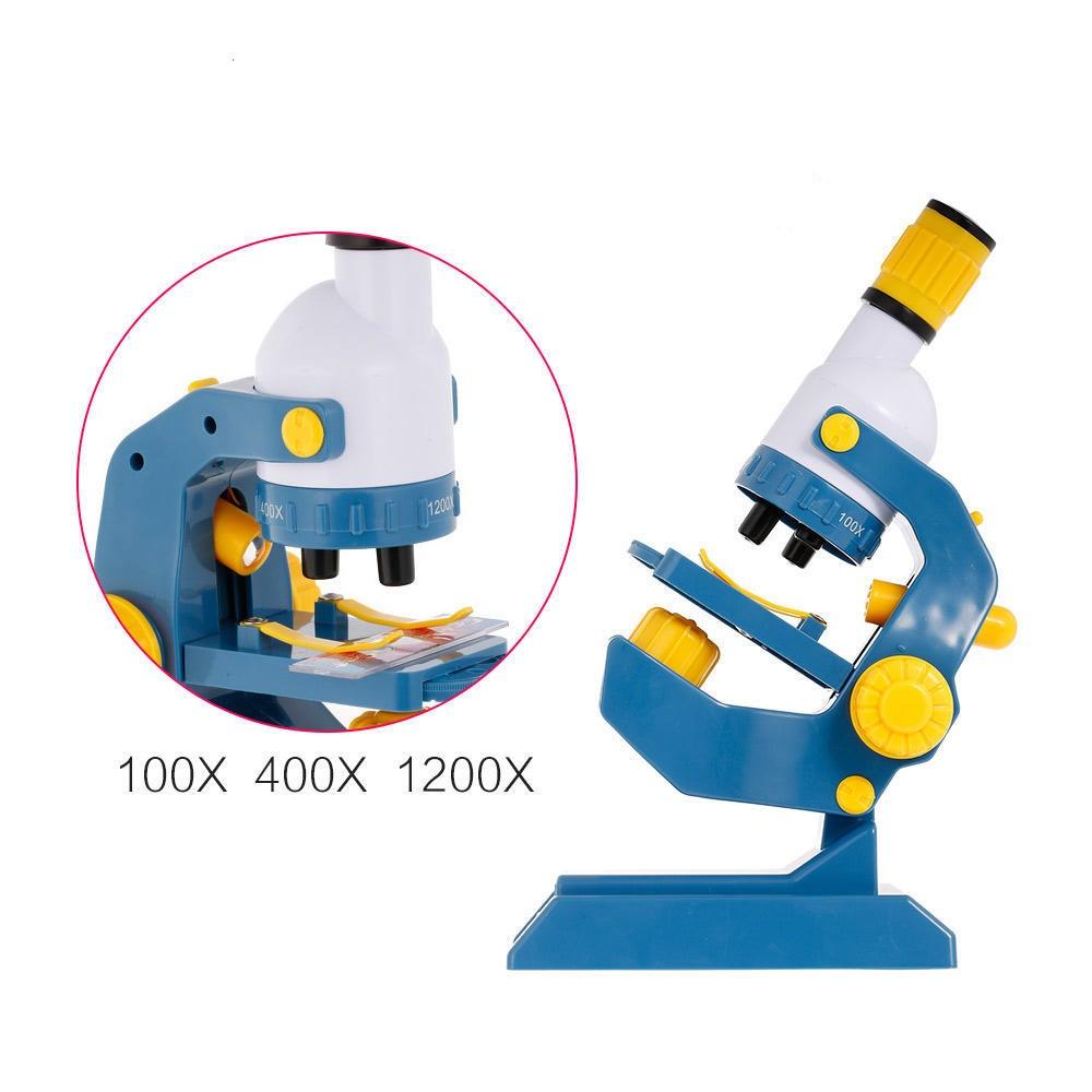 Детский обучающий набор - микроскоп, аксессуары, свет, увеличение 100, 400, 1200,  С 2123