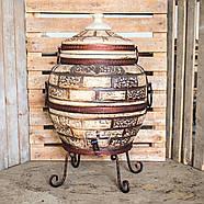 Тандыр Престиж-3 на 80 литров. Дизайн «Кирпич», фото 3