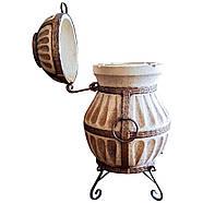 Тандыр подарочный домашний переносной Люкс-4 на 80 литров.  Дизайн «Башня», фото 2