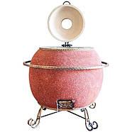 Тандыр Утепленный на 75 литров. Дизайн «Мраморная крошка», фото 2