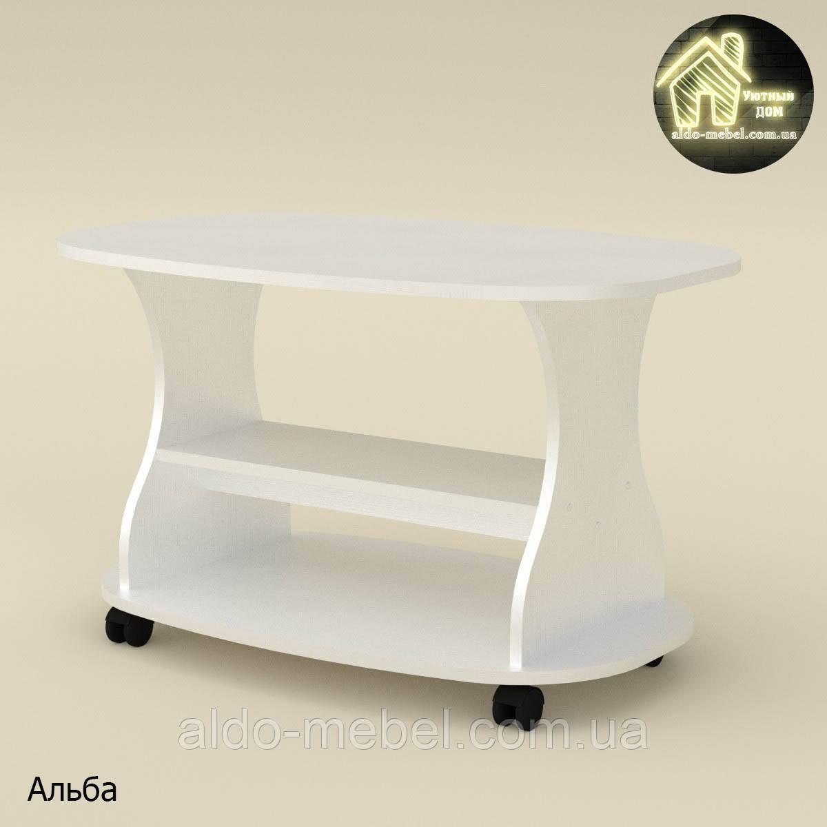 Стол журнальный Каприз L (торцовка пластик) Габариты Ш - 900 мм; В - 526 мм; Г - 580 мм (Компанит)