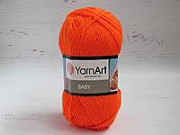Пряжа для ручного вязания YarnArt Baby цвет 8279, детский акрил для вязания одежды и игрушек, детская пряжа