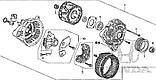 Генератор, регулятор напряжения, диодный мост, якорь, статор Honda Civic, ACURA ILX 1.4/1.8-VTEC с 2012 года, фото 2