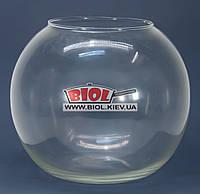Ваза аквариум 18л (шарообразная) стеклянная (h 29см, d 34см)