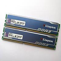 Пара игровой оперативной памяти Kingston DDR3 8Gb (2*4Gb) 1600MHz 12800U 2R8 CL9 (KHX1600C9D3B1K2/8GX) Б/У, фото 1
