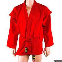 Самбовка Mizuno, куртка+шорты(эластан), красный, рост 150-190см