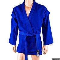 Самбовка Velo, куртка+шорты(эластан), синий, рост 150-190см