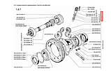 Привод датчика скорости и скоба к-т., Таврия Славута, a-245-3841010-01, фото 3