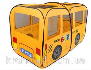 Палатка детская Bambi M 1183 автобус, 156-78-78 см, 1 вход, окна-сетки, в сумке, 38-40-8 см, фото 2