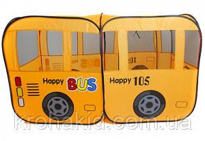 Палатка детская Bambi M 1183 автобус, 156-78-78 см, 1 вход, окна-сетки, в сумке, 38-40-8 см, фото 3