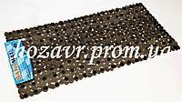 Большой коврик на присосках противоскользящий камни (прозрачный чёрный) 90*45 см K0015