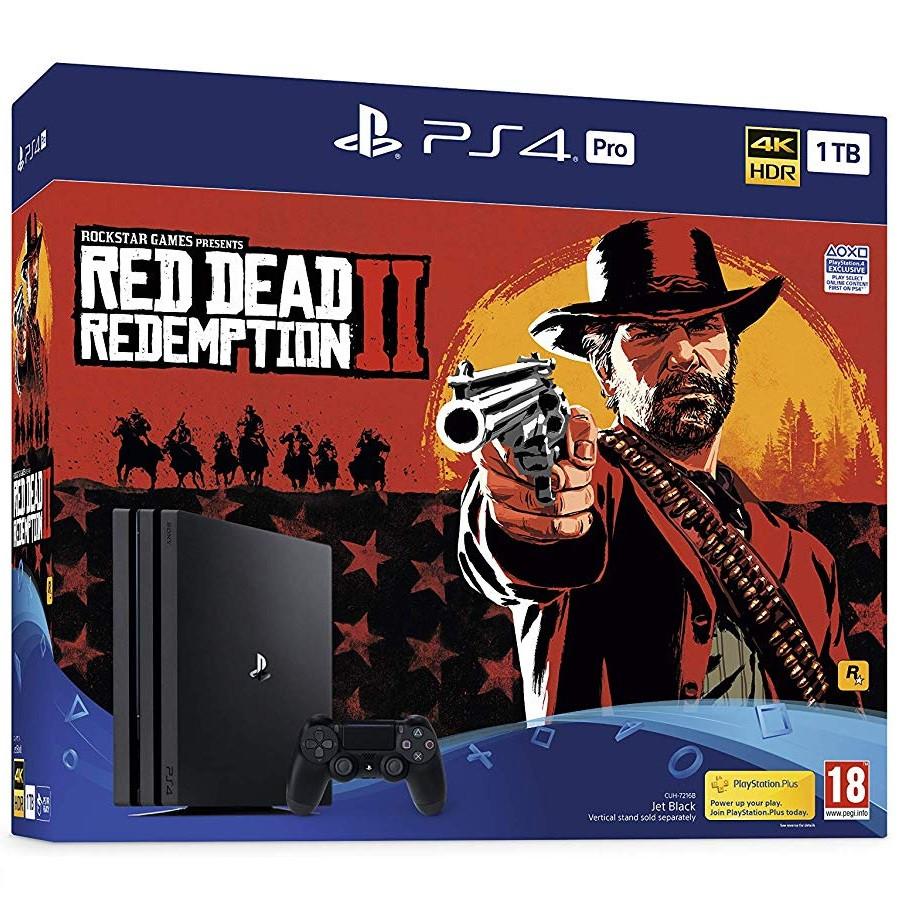 Игровая приставка Sony PlayStation 4 Pro 1TB + игра Red Dead Redemption 2