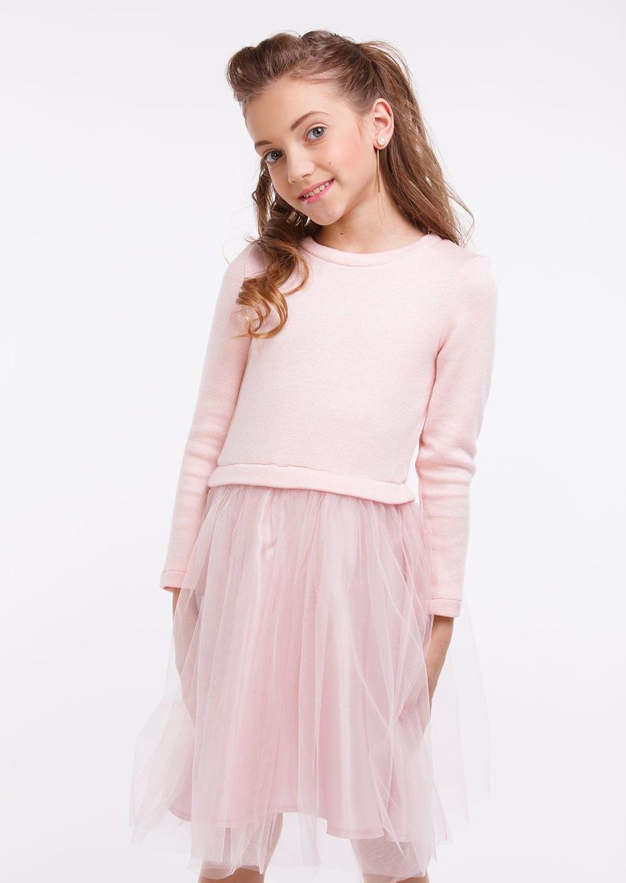 Нарядное платье Лея розовый