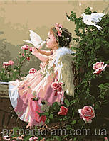 Картина по номерам Menglei Ангелочек и голуби MG1054 40 х 50 см, фото 1