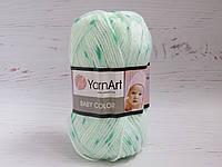 Пряжа для ручного вязания YarnArt Baby Color меланж 270, акрил для вязания одежды и игрушек, детская пряжа