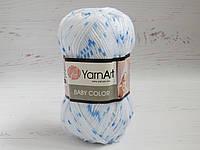 Пряжа для ручного вязания YarnArt Baby Color меланж 5134, акрил для вязания одежды и игрушек, детская пряжа