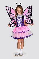 Карнавальный костюм для девочки Бабочка Розовая,рост 98-128 см 104
