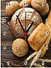 """Настенные часы МДФ кухонные """"Хлеб"""" кварцевые"""