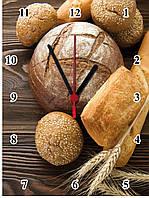 """Настенные часы МДФ кухонные """"Хлеб"""" кварцевые, фото 1"""