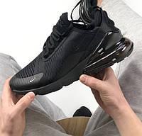 Женские кроссовки Air Max 270 черные. Живое фото, фото 1