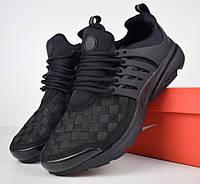 Мужские кроссовки Air Presto черная клетка. Живое фото. Топ качество! (Реплика ААА+), фото 1