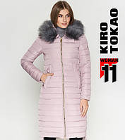 11 Kiro Tokao | Женская длинная куртка 6615 пудра