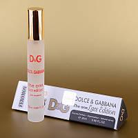 Женская туалетная вода с феромонами Dolce&Gabbana The One Lace Edition 20 ml (в треугольнике) ASL