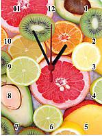 """Настенные часы МДФ кухонные """"Цитрусы"""" кварцевые, фото 1"""