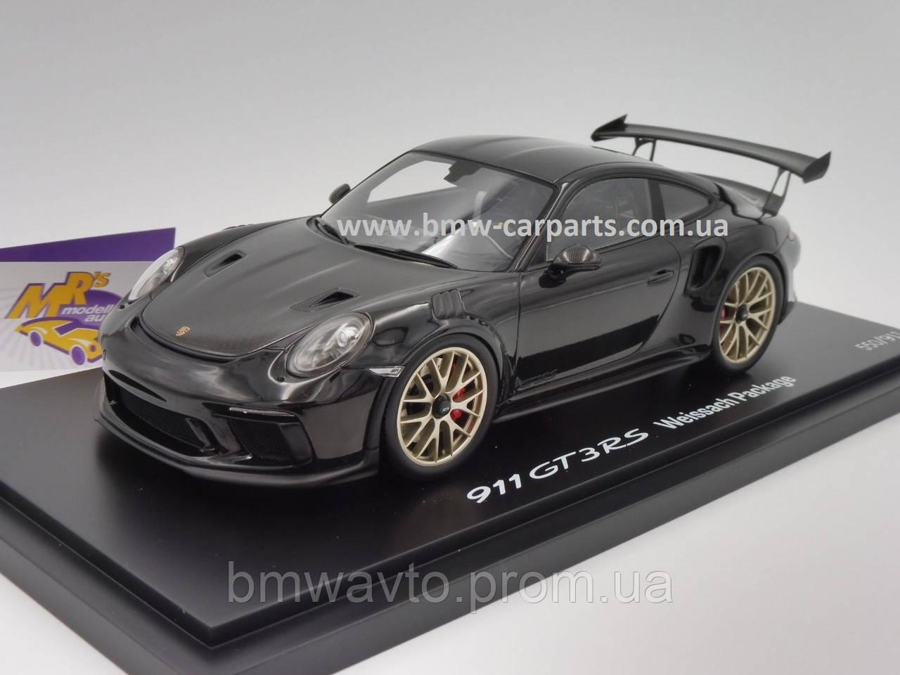 Модель автомобіля Porsche 911 GT3 RS (991 II) Weissach Package, Scale 1:18