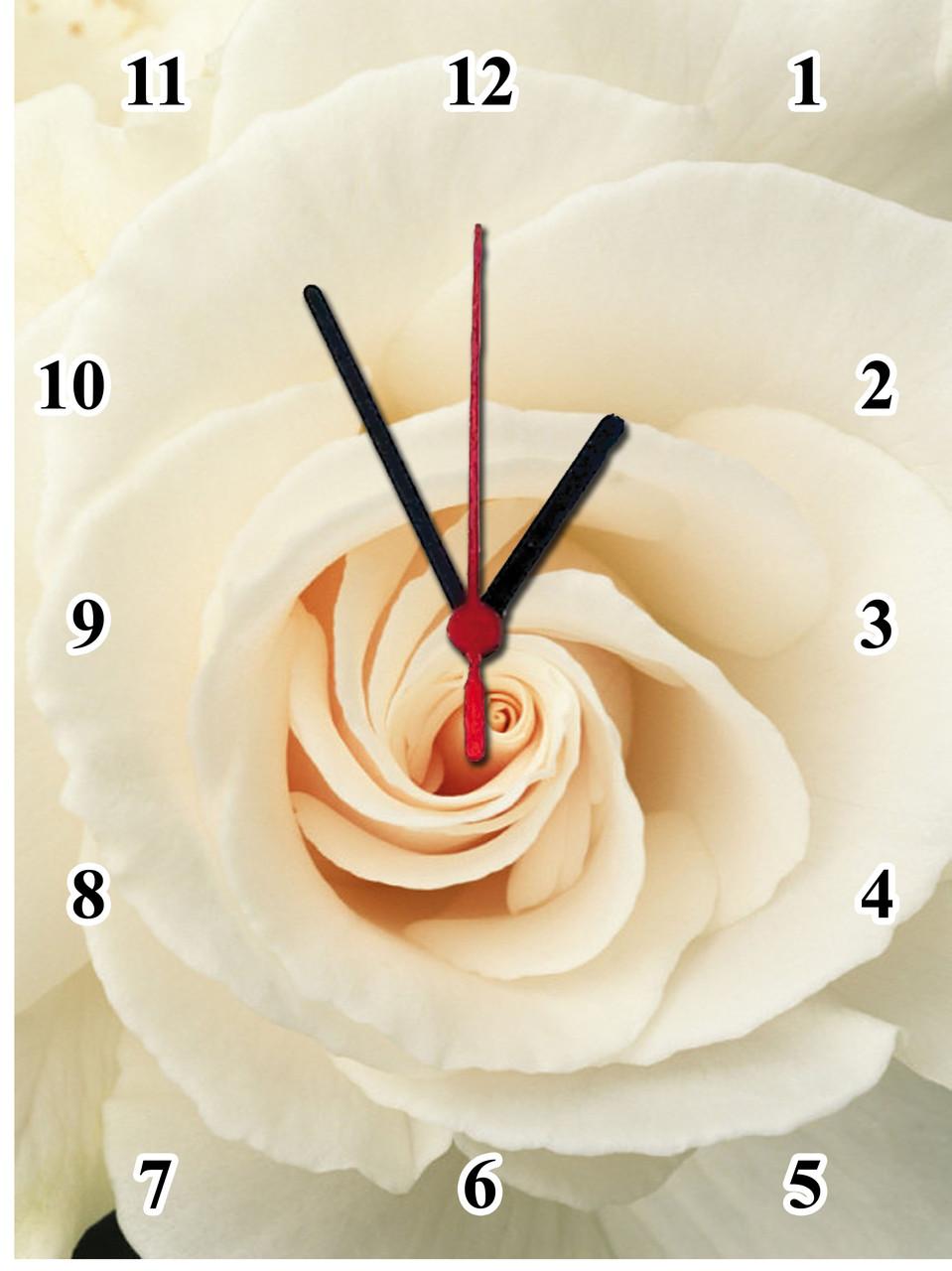 "Настенные часы МДФ  ""Цветок розы"" кварцевые"