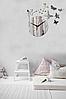 """Настенные 3D часы с зеркальным эффектом """"Butterfly"""" - 3Д часы c феей и бабочками, необычные часы стикеры 40х40, фото 5"""
