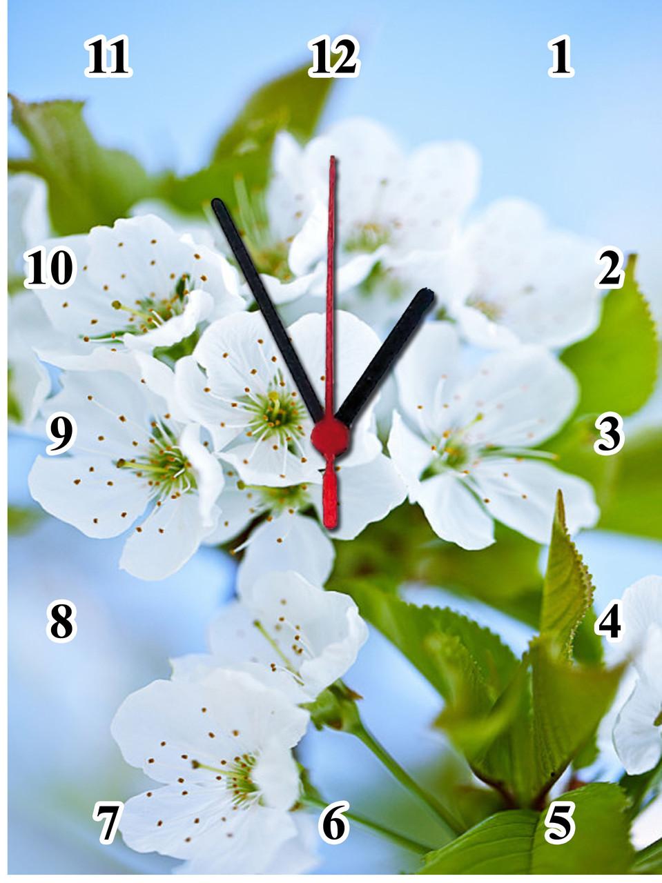 """Настінні годинники МДФ """"Цвіт вишні"""" кварцові"""