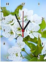 """Настенные часы МДФ  """"Цвет вишни"""" кварцевые, фото 1"""