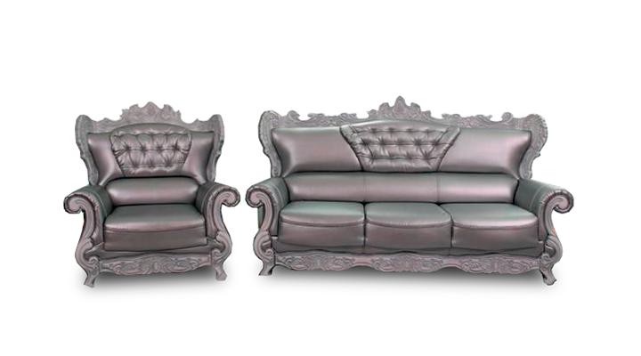 Кожаный диван Версаль
