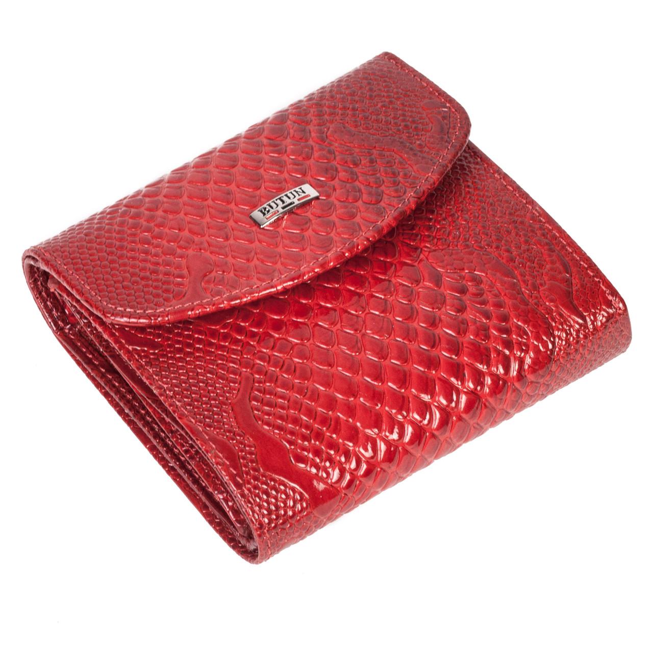 Женский кошелек кожаный красный Butun 584-008-006