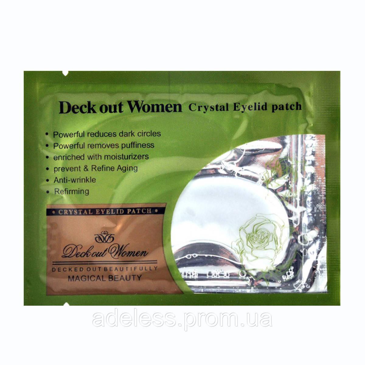 Коллагеновые патчи для век с Зеленым чаем Deck out Women Crystal Eyelid patch