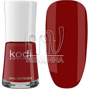 Лак для ногтей Kodi Professional №019, 15 мл темно-красный