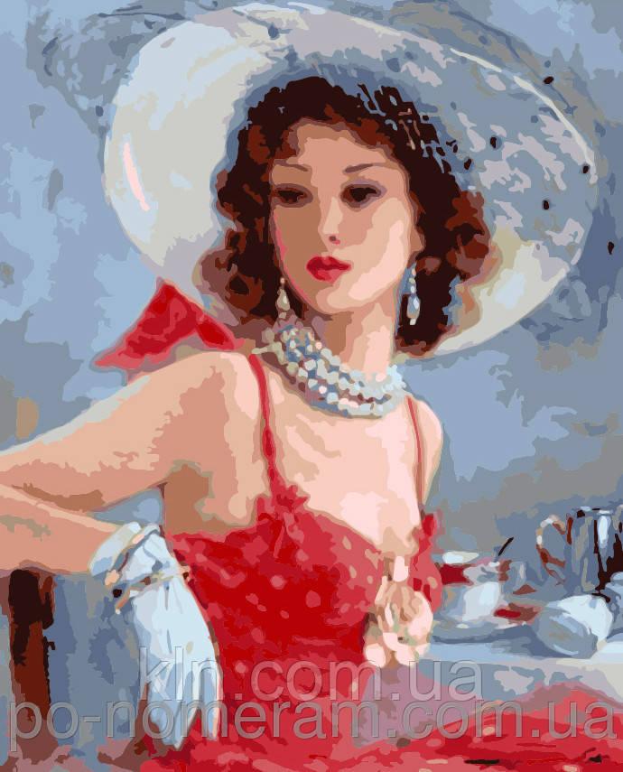 Картина по номерам Menglei Дама в шляпке MG1070 40 х 50 см