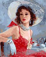 Картина по номерам Menglei Дама в шляпке MG1070 40 х 50 см, фото 1