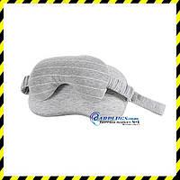 Маска с подушкой под голову для путешествий Silenta Combo, light grey.