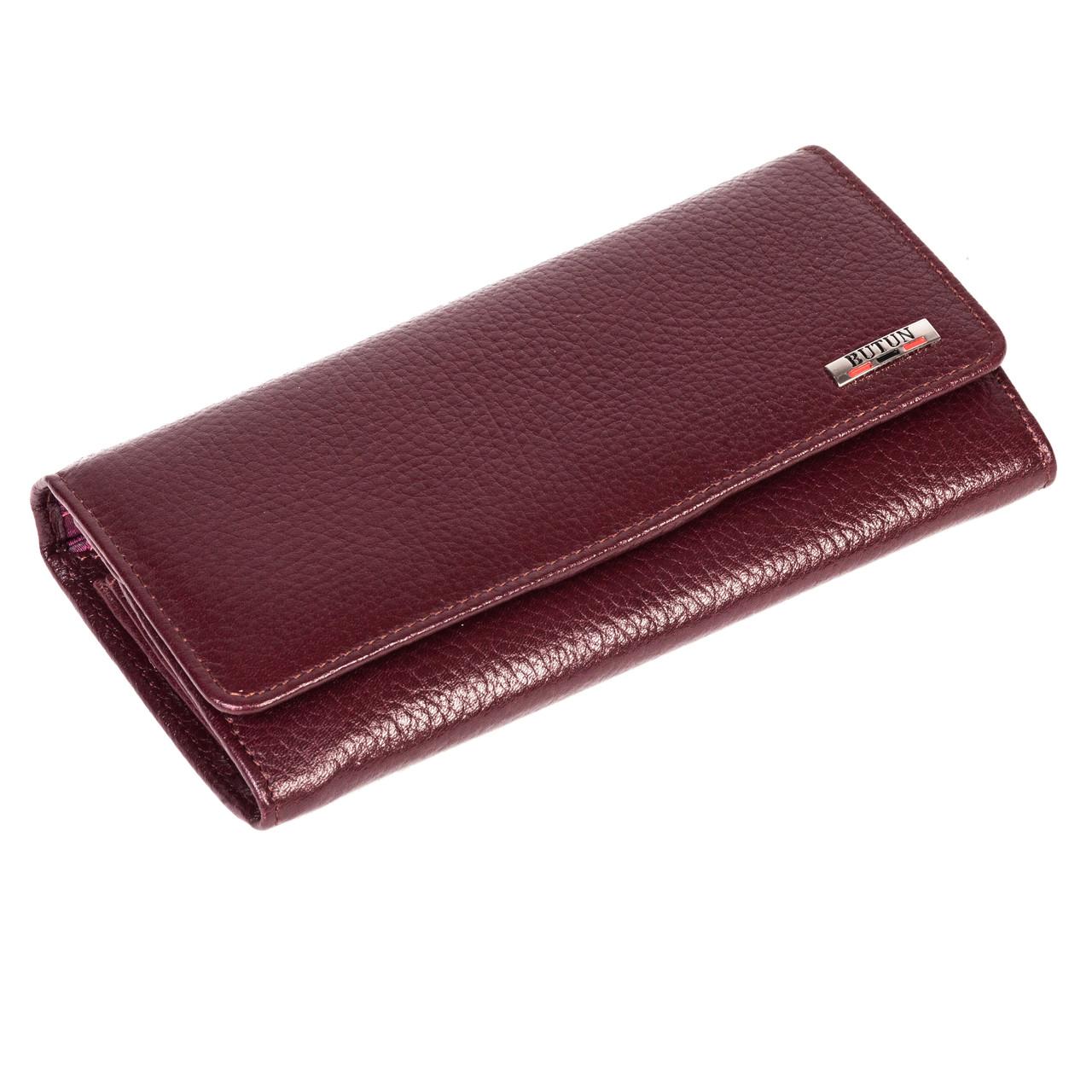 Женский кошелек Butun 592-004-002 кожаный бордовый