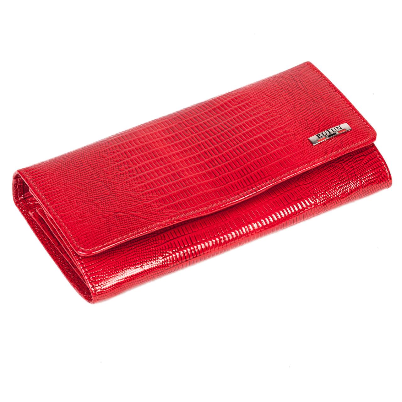 Женский кошелек Butun 592-005-006 кожаный красный