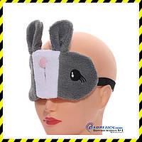Маска для сна Silenta Кролик с гелевым вкладышем. Grey, фото 1