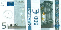 """Пачка денег (сувенир) 001 Евро """"5"""""""