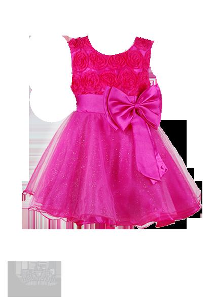 Вечернее ярко-малиновое платье с розами на лифе