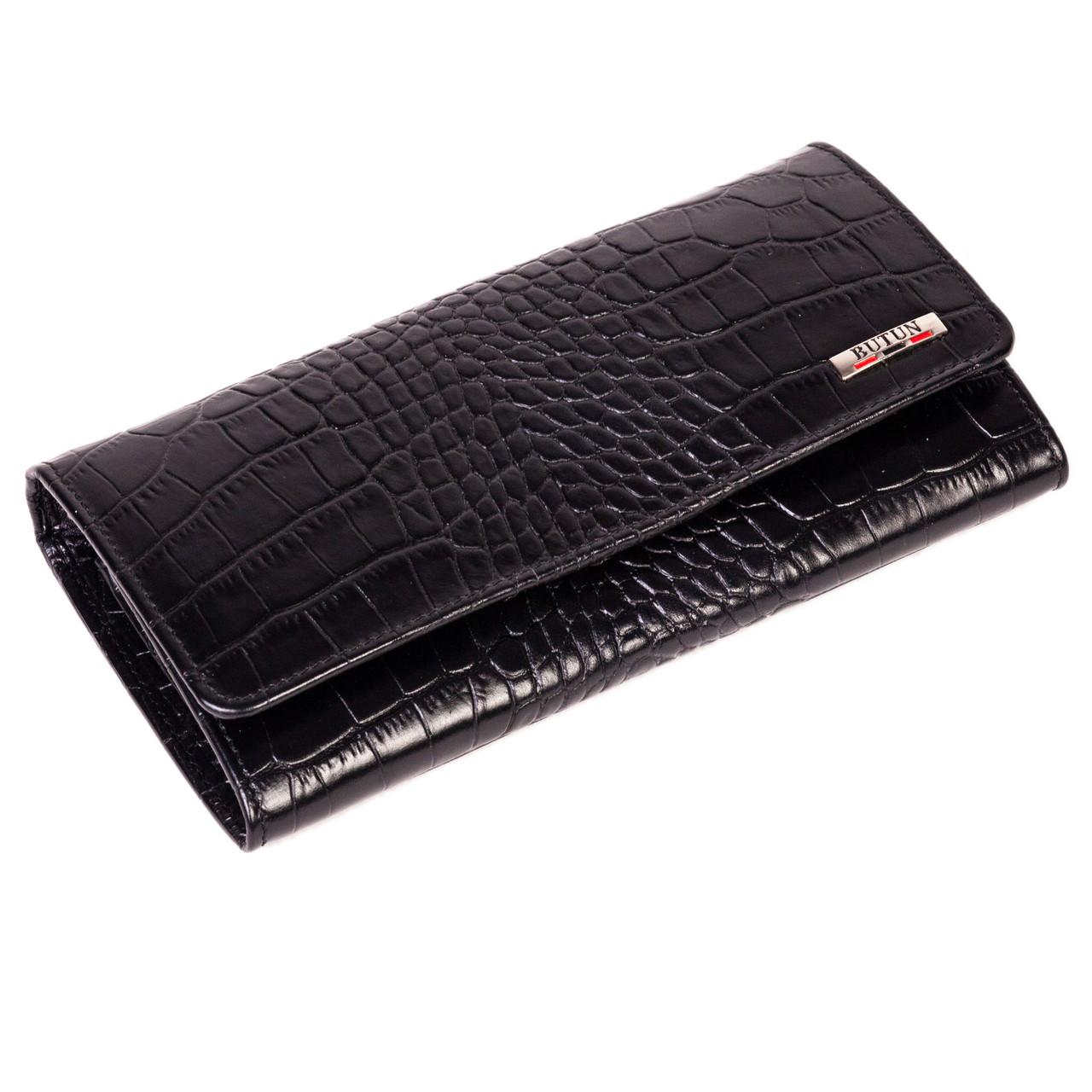 Женский кошелек Butun 592-002-001 кожаный черный