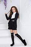 Школьный костюм шорты+пиджак школьная форма для девочки рост:134,140,146,152 см, фото 6