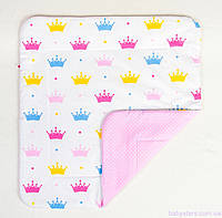 """Детское одеяло в кроватку 80х85 см, """"Короны"""""""